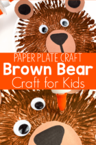 Paper Plate Brown Bear Craft for Kids
