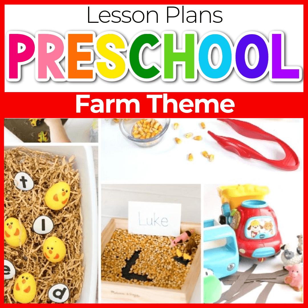 Easy to Use Farm Lesson Plans for Preschool