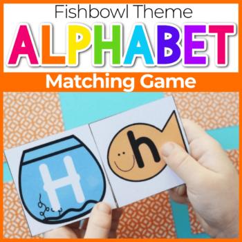 Fishbowl Themed Alphabet Matching Game for Preschool