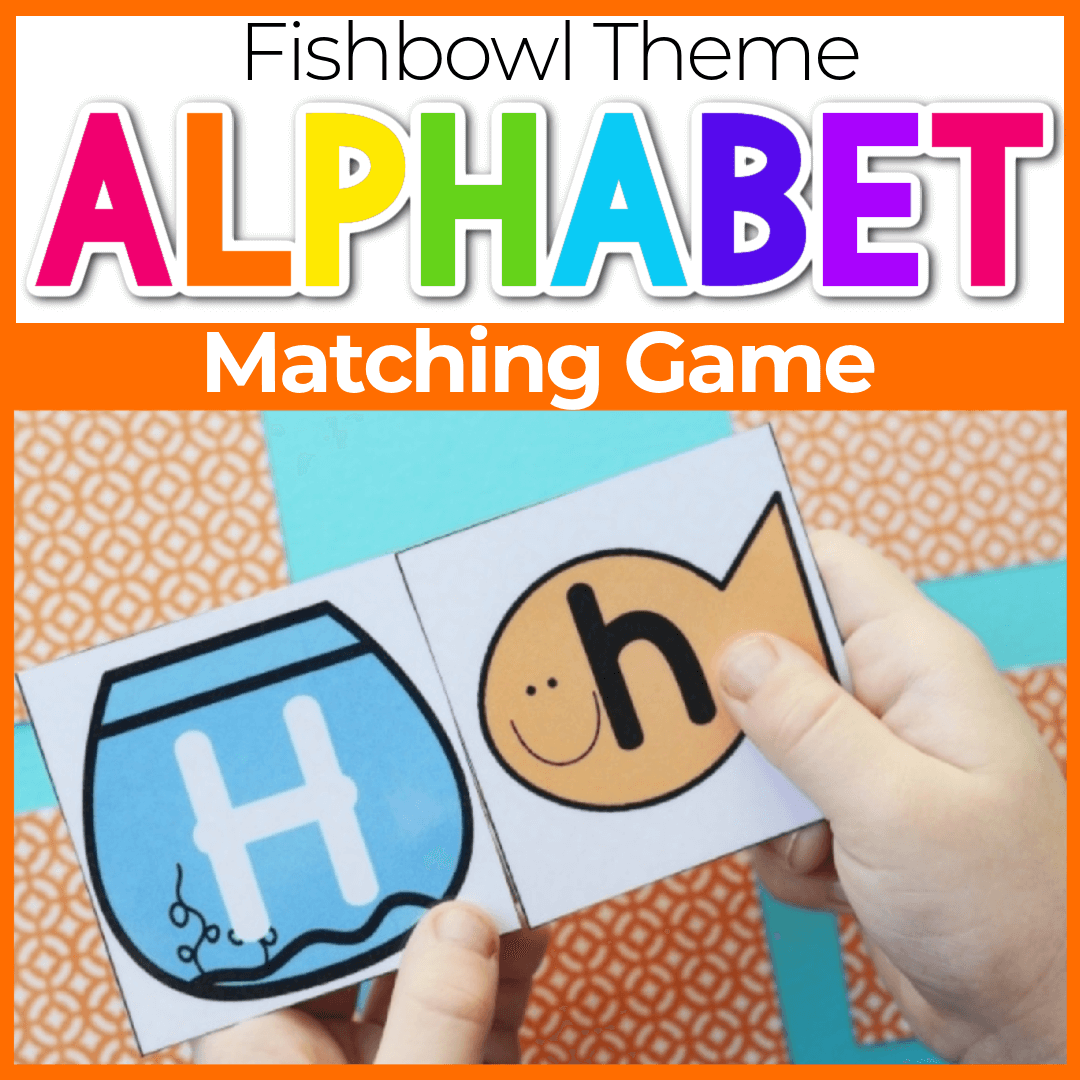Pet Fish Alphabet Uppercase and Lowercase Matching Game