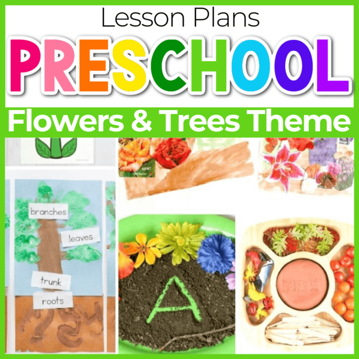 Flowers and Trees Theme Preschool Lesson Plans
