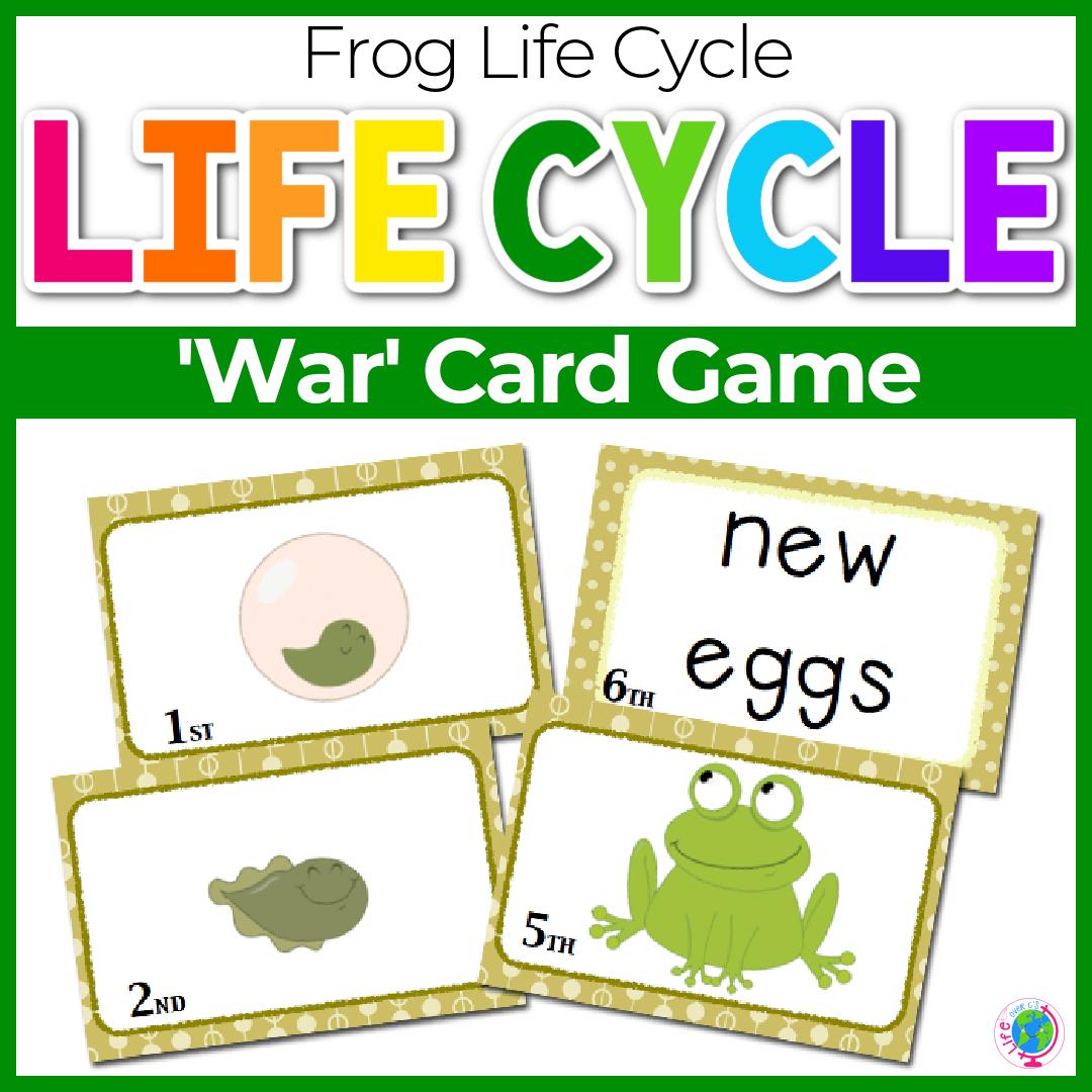 Frog Life Cycle War! Card Game