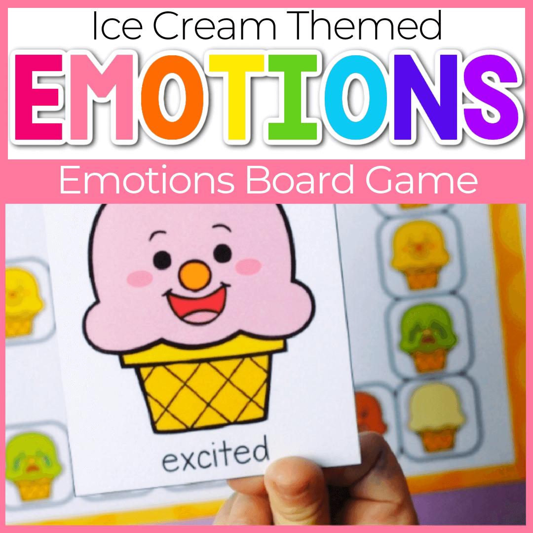 Ice Cream Social Emotional Skills Preschool Board Game