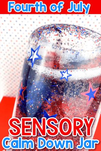 4th of July Sensory Calm Down Jar