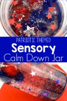Patriotic Themed Sensory Calm Down Jar