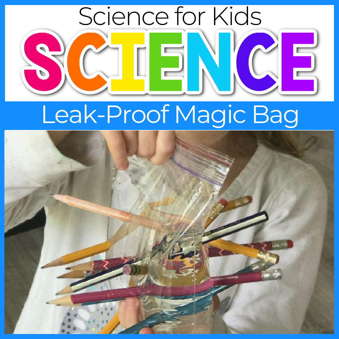 No Leak Magic Bag Science Experiment for Kids