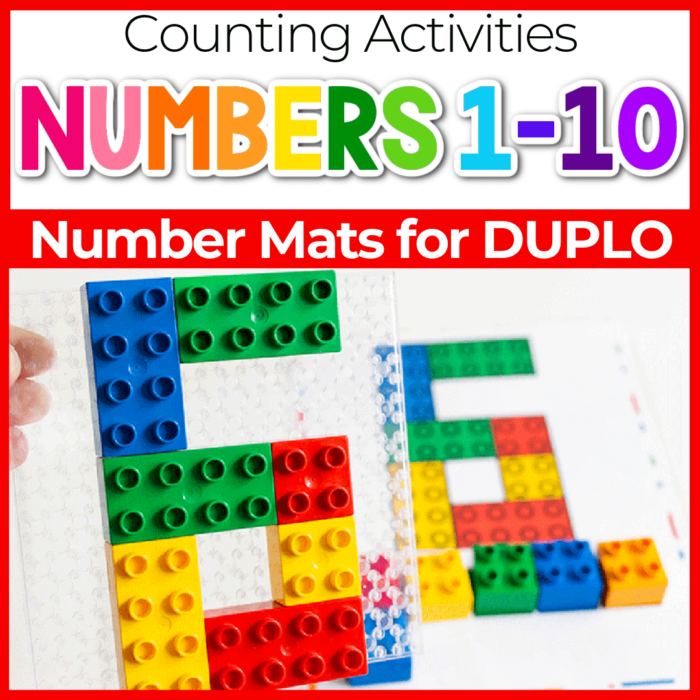 Number mats for counting DUPLO blocks