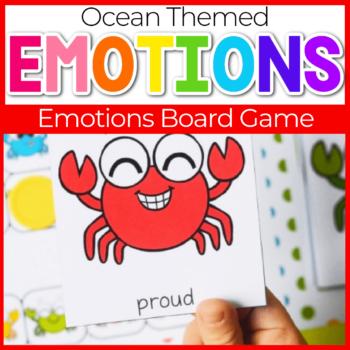 Ocean Theme Emotions Board Game for Preschool
