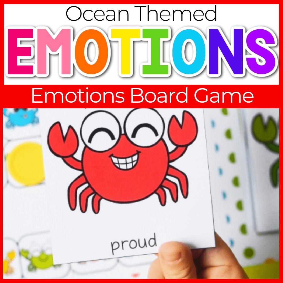 Preschool Emotions Printables Summer Theme Board Game