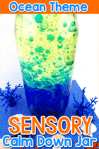 Ocean Theme Sensory Calm Down Jar