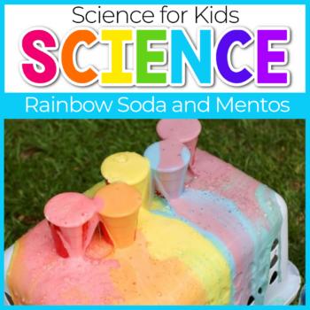Rainbow Soda and mentos Science Experiments for kindergarten