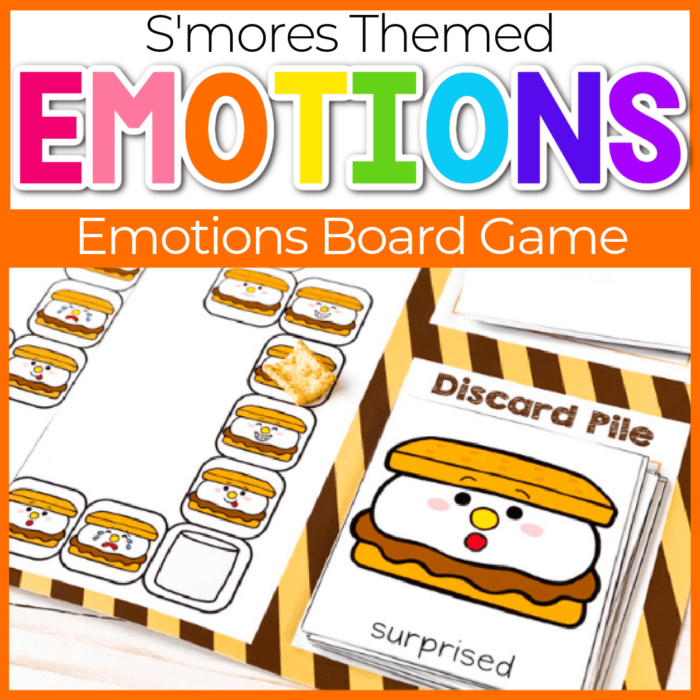 S'Mores themed Emotions Board Game for Preschool