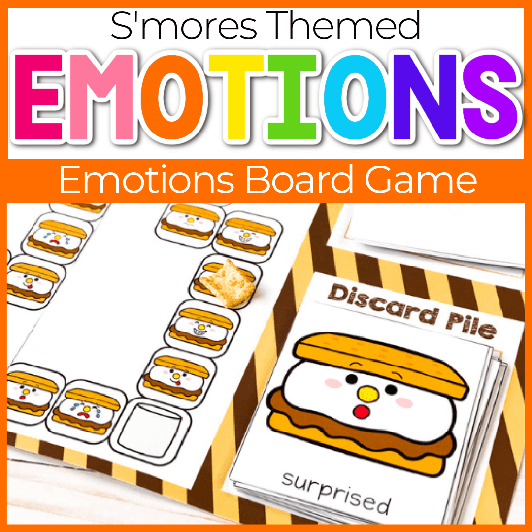 S'mores Theme Emotions Preschool Board Game
