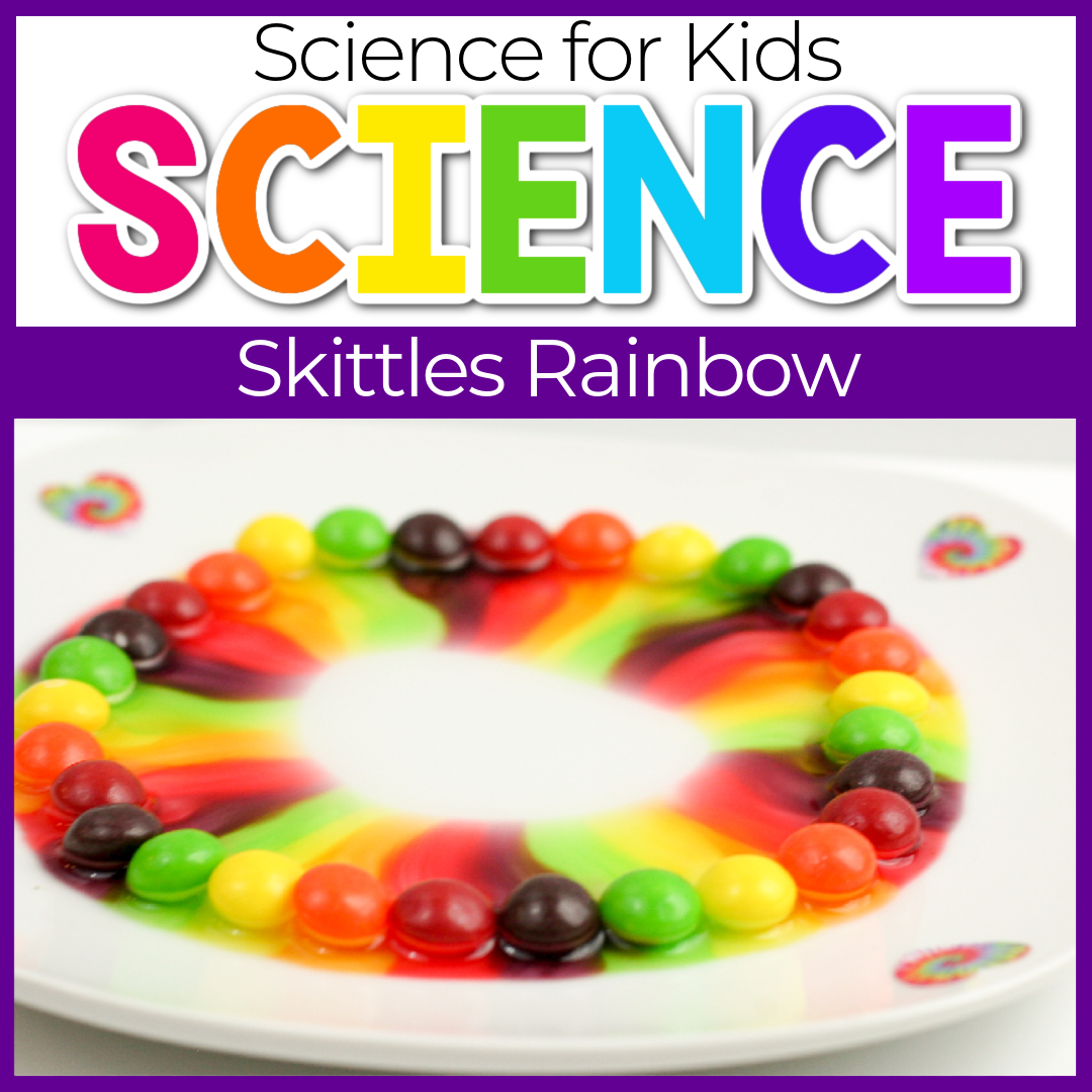 Skittles Rainbow Colors Science Experiments for Kids