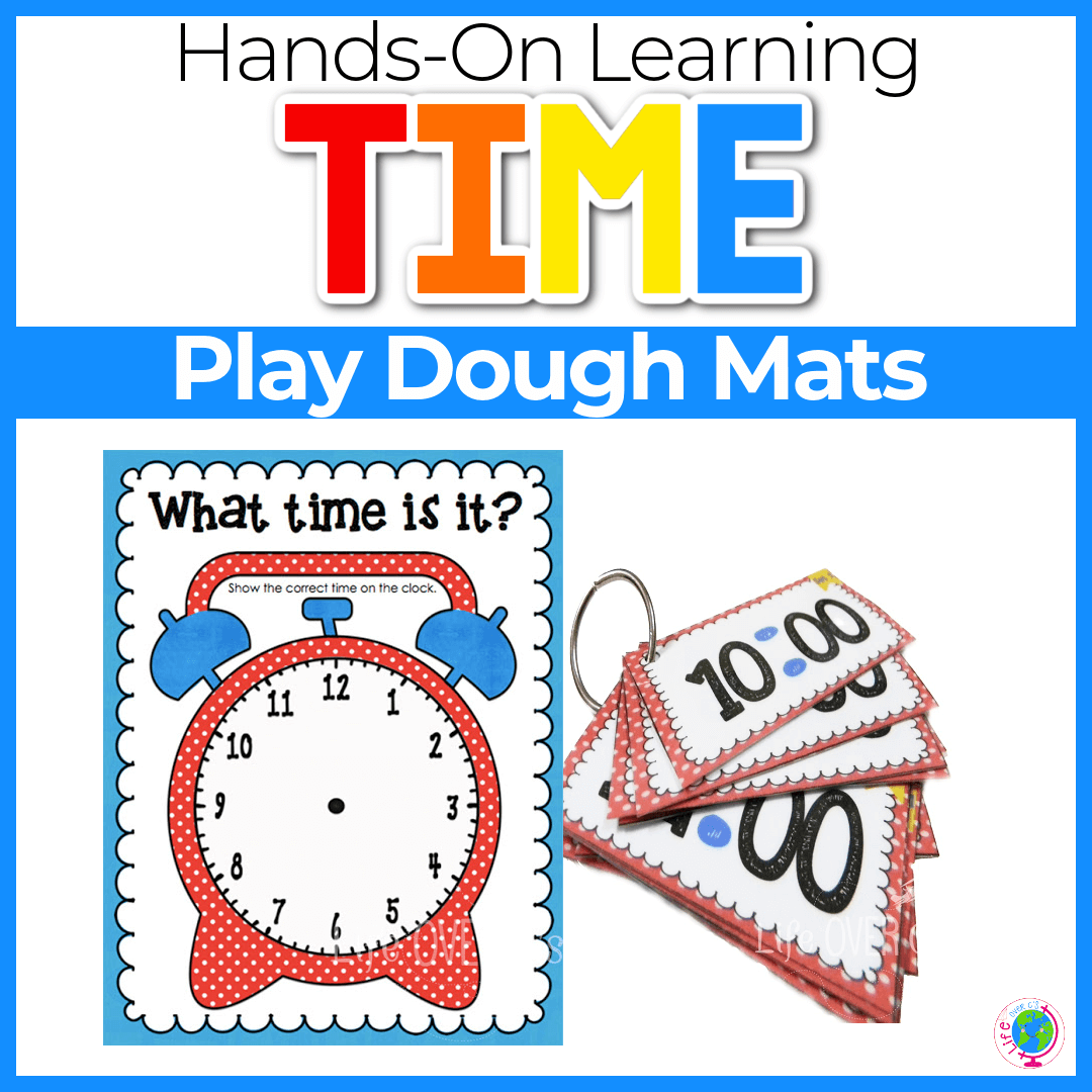 Time Play Dough Mat Multiple Levels