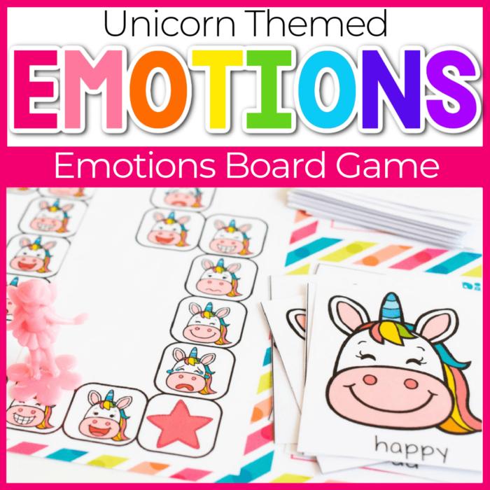 Unicorn Emotions Board Game for Preschool
