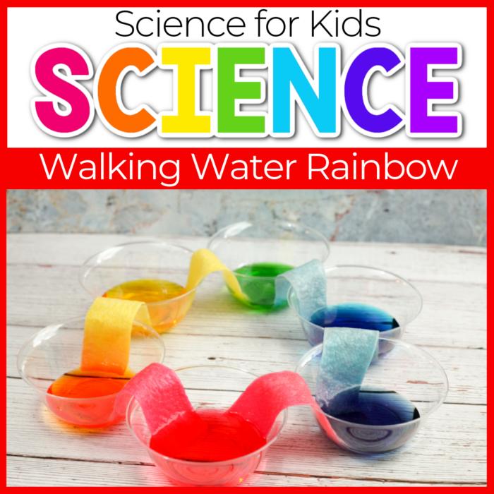 Walking Water Rainbow Science Experiments