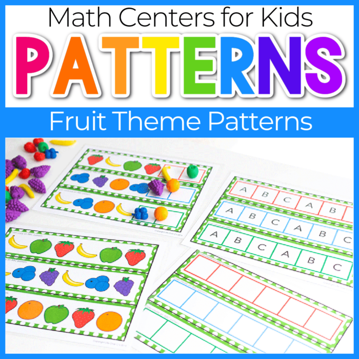 fruit themed patterns for kindergarten