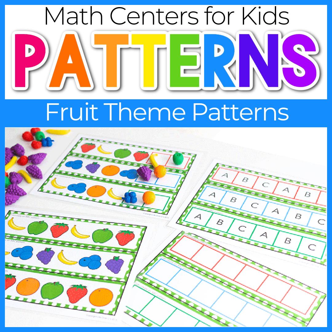 Preschool Fruit Theme Fun Pattern Activities