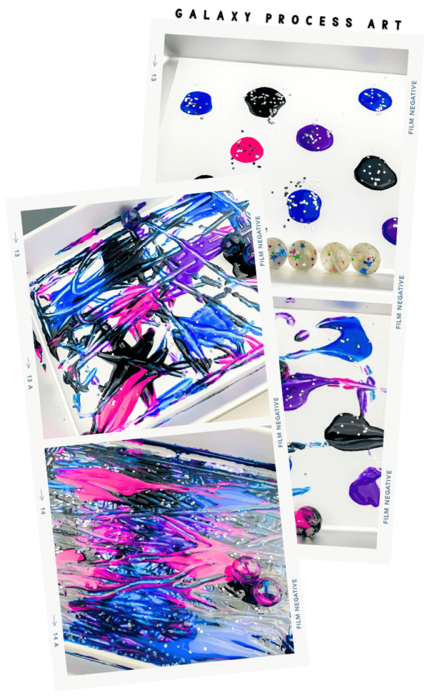 galaxy bouncy ball process art process images