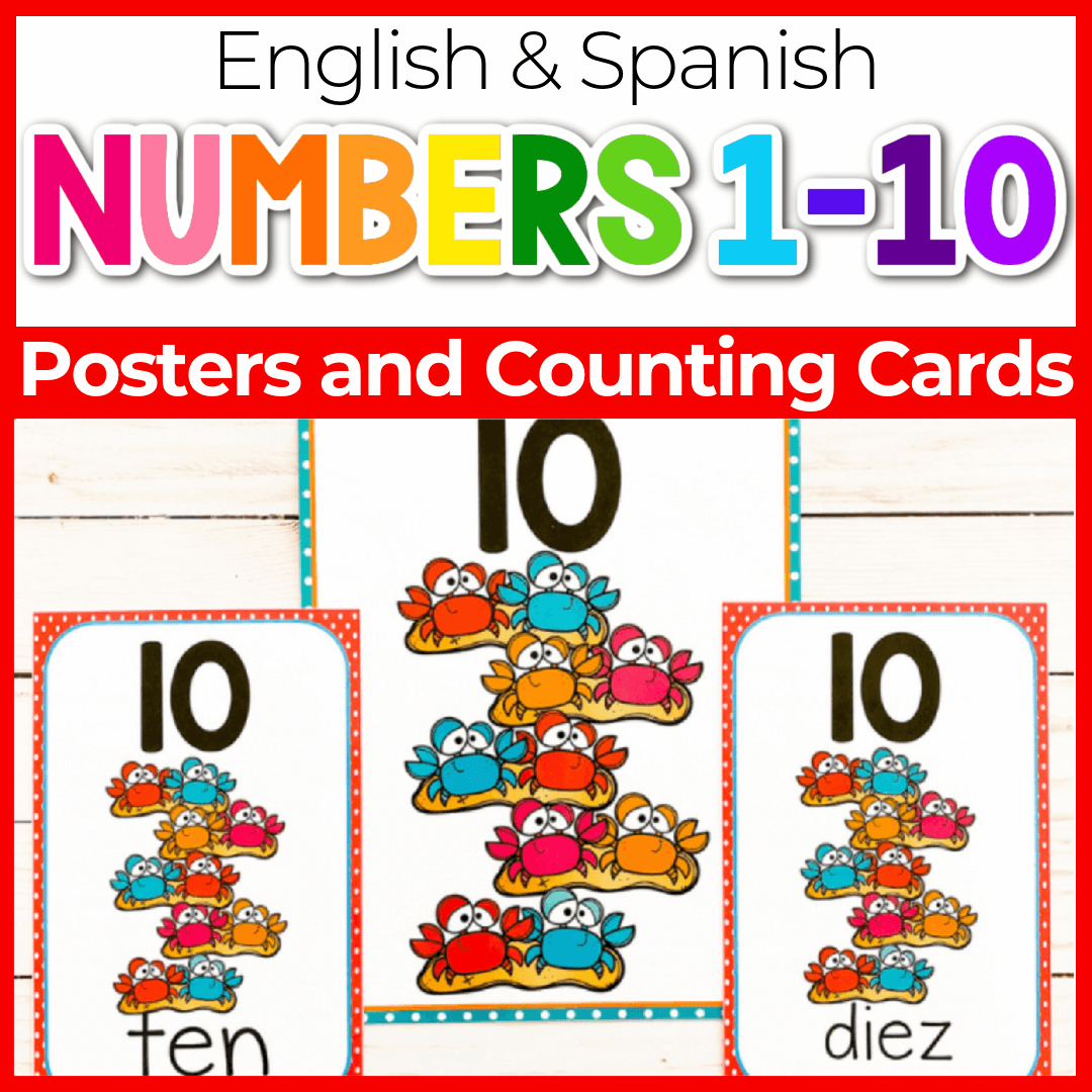 Summer Theme Printable Number Posters for Preschool