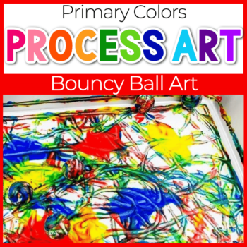 primary colors bouncy ball painting process art for kids
