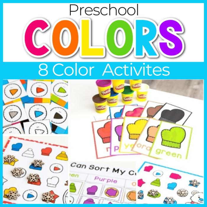 winter color activities for preschool