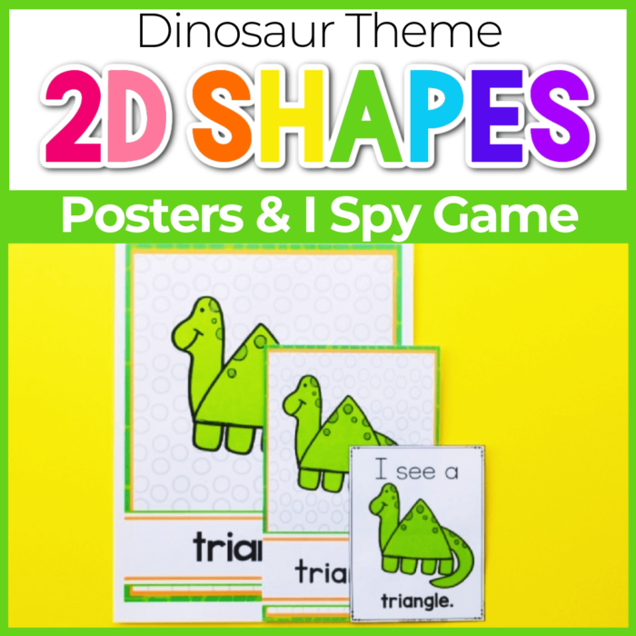 2D shape posters for preschool Dinosaur Theme