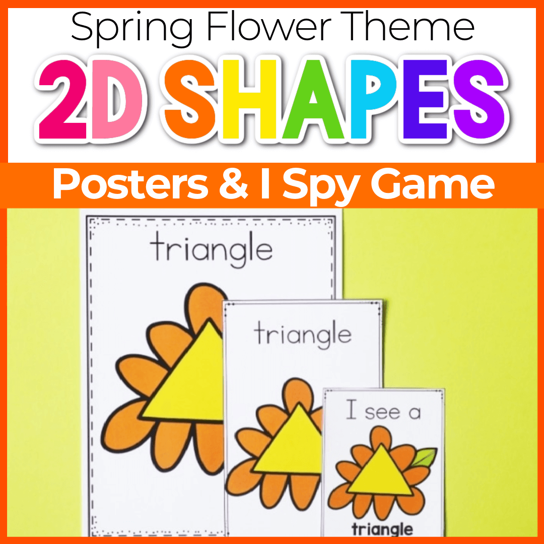 Spring Theme Posters Shape Activities for Preschoolers