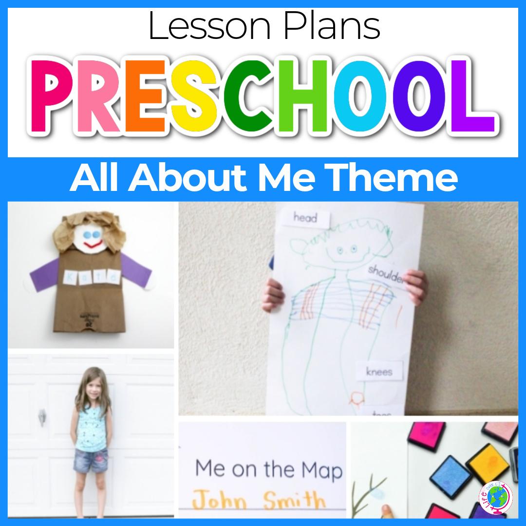 All About Me Preschool Theme Lesson Plan