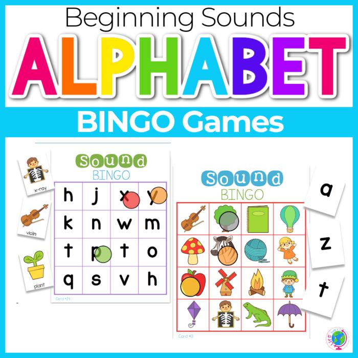Alphabet Beginning Sounds BINGO