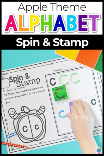 Apple Spin and Stamp worksheets