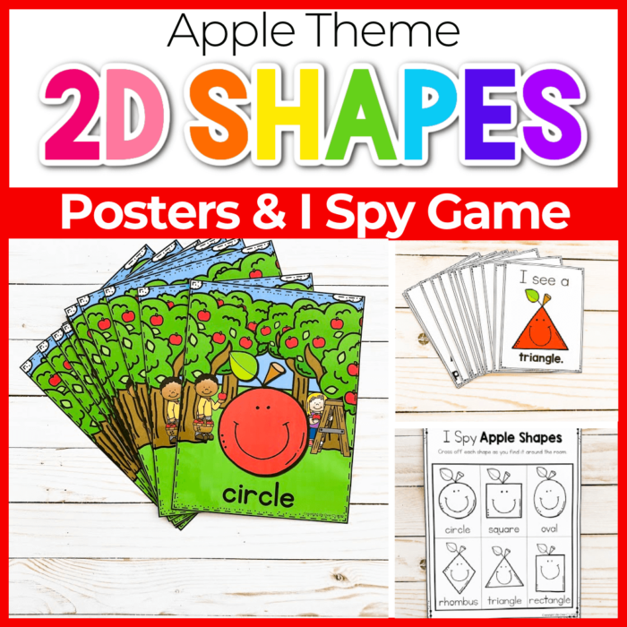 Apple Theme 2D shape posters for preschool Featured Image