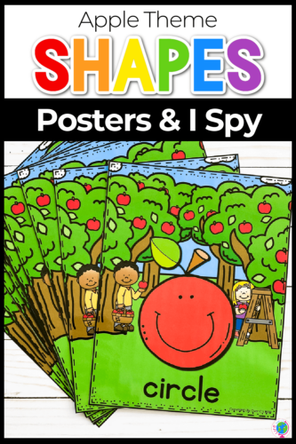 Apple Theme Shapes Posters and I Spy
