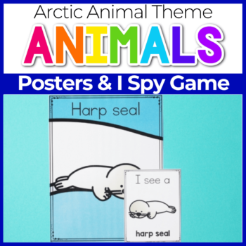 Arctic Animal Theme Posters and I Spy Game for Preschool
