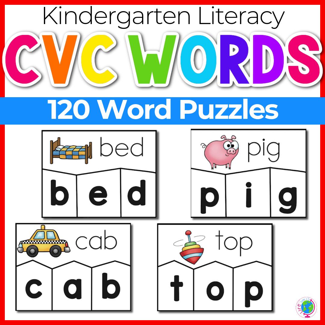 120 CVC Word Puzzles