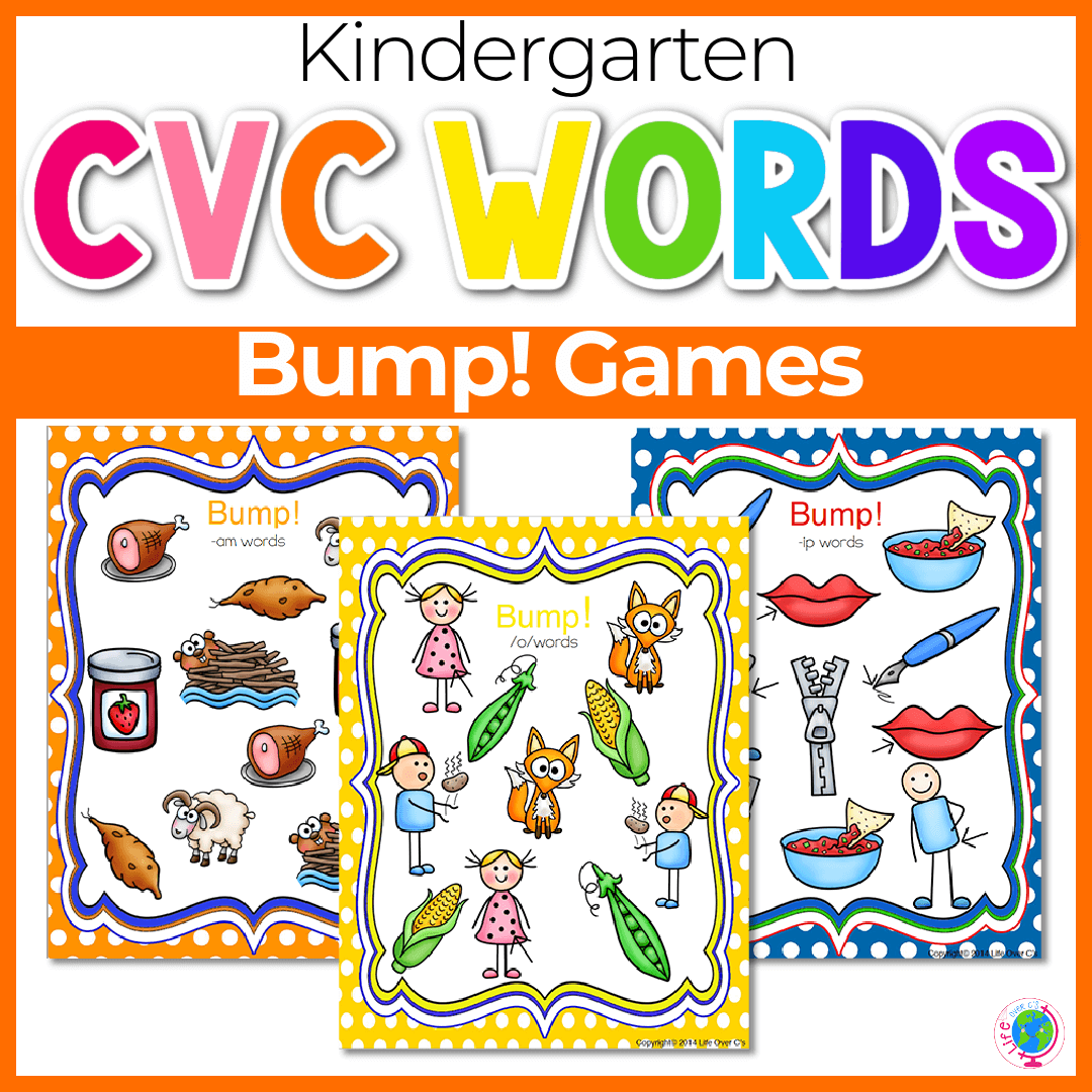 20 CVC Word Family Bump! Games