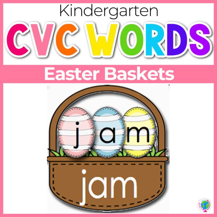 CVC Words Word Building Easter Baskets