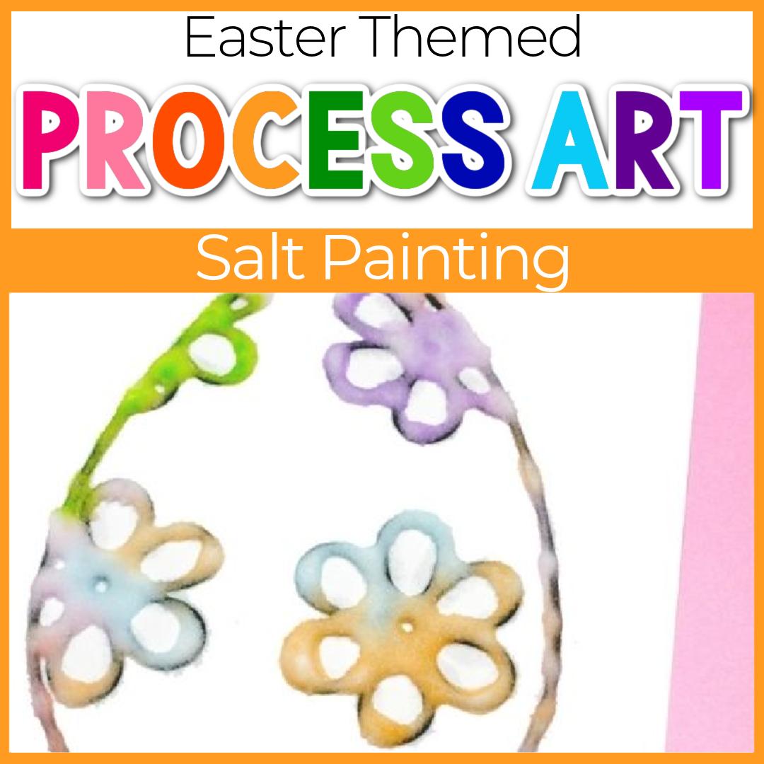 Easter Egg Salt Painting for Kids