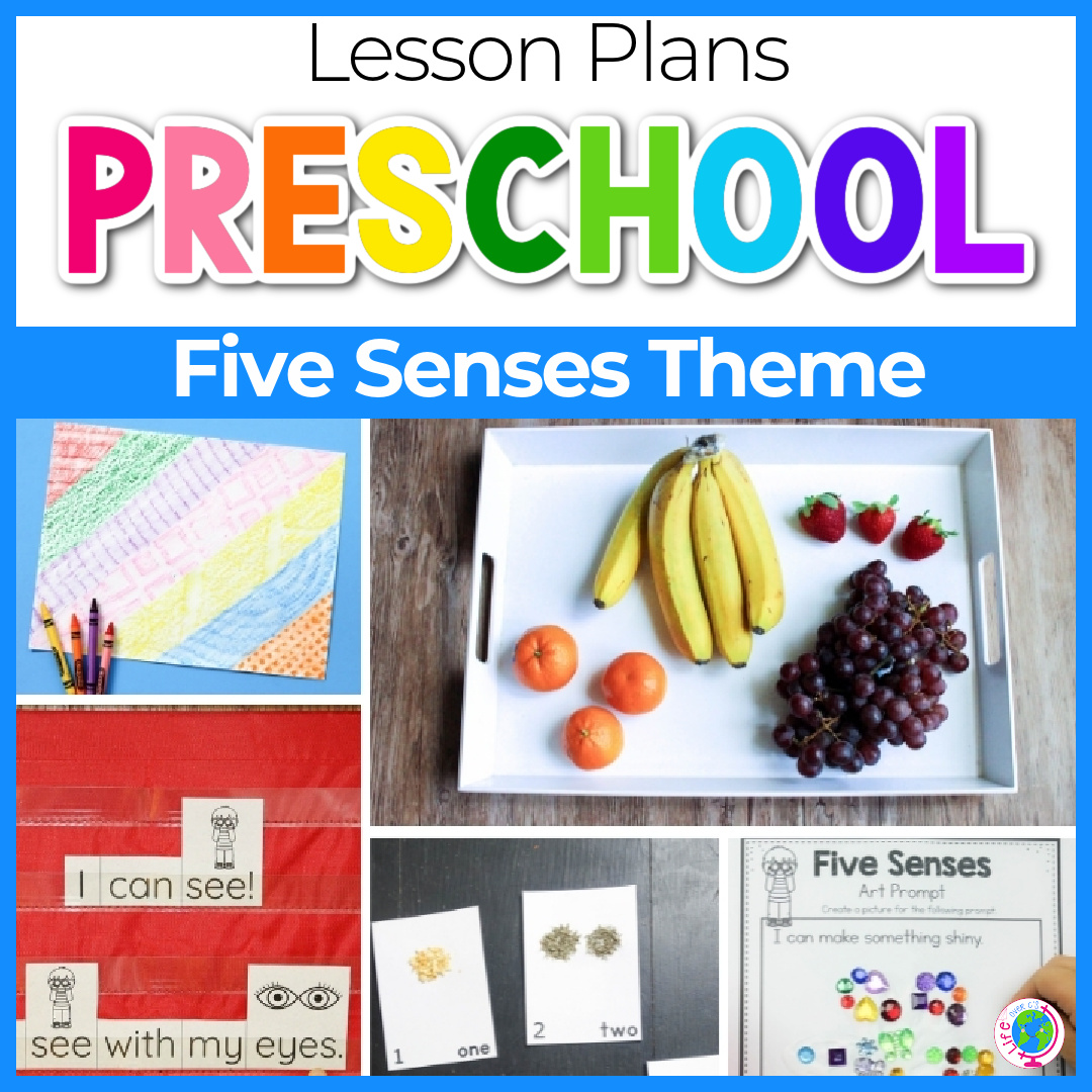 Easy Five Senses Lesson Plan for Preschool