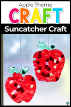 Apple Theme Suncatcher Craft