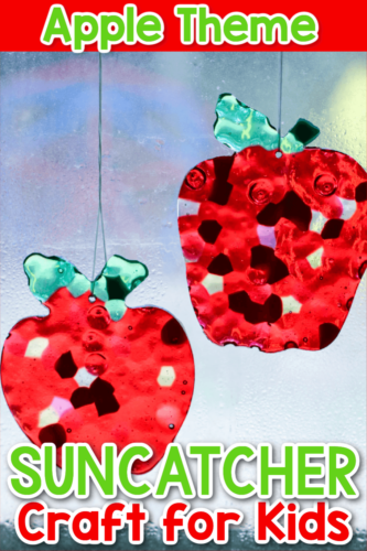 Apple Suncatcher Craft for Kids