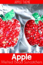 Easy Melted Bead Apple Suncatchers