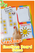 Sun Emotions Board Game for Kids pin-1