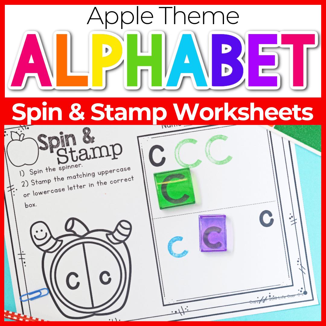 Apple Theme Alphabet Stamp Activities for Preschool