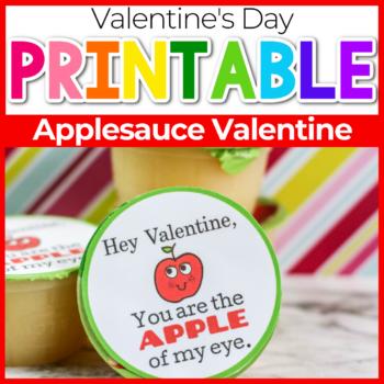 applesauce valentine printable applesauce cup topper
