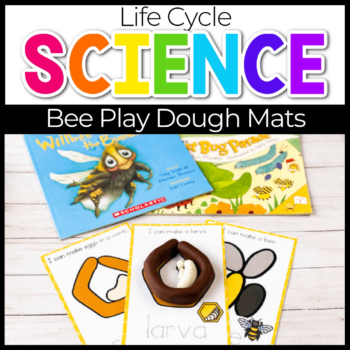 bee play dough life cycle mats