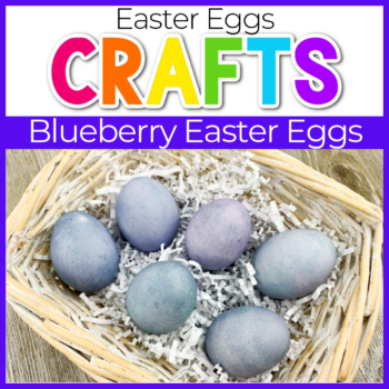blueberry dyed easter eggs craft for kids