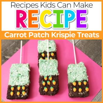 carrot patch spring rice krispie treats