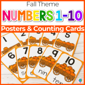 fall theme number posters for preschool